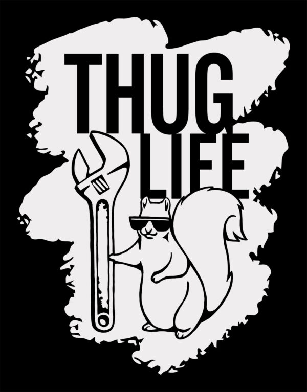 Thug Life Squirrel Detail