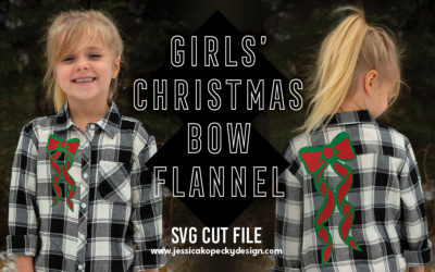 Girls' Christmas Bow Flannel