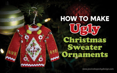 How to Make Ugly Christmas Sweater Ornaments