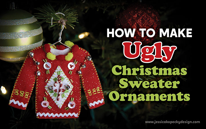 How to make Ugly Christmas Sweater Ornaments Cricut Maker - Felt Needlecraft - SVG download