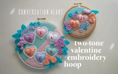 Valentine's Day Embroidery Hoop Pattern – Conversation Hearts