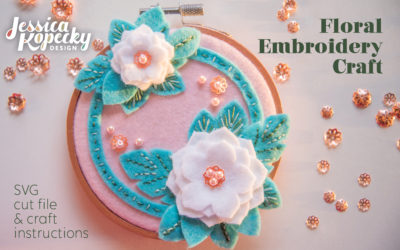 Floral Embroidery Hoop Craft