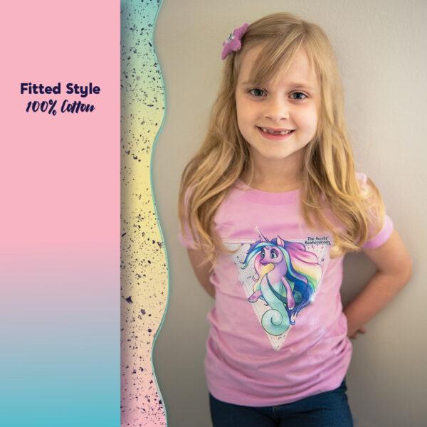Sandy the Seahorsicorn Girls' T-shirt
