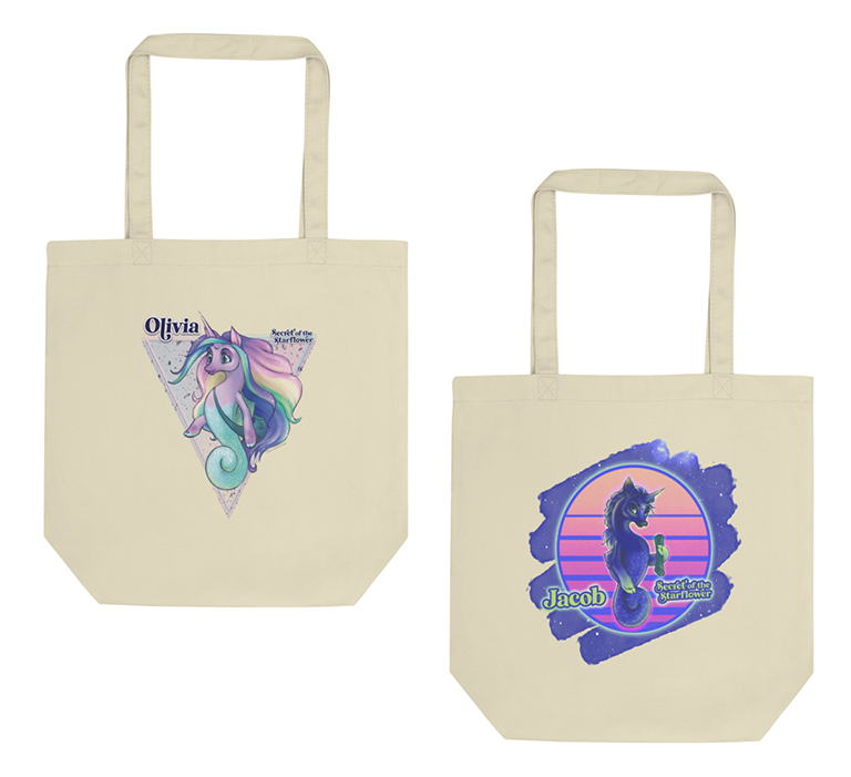 Sample bags - coloring contest prizes