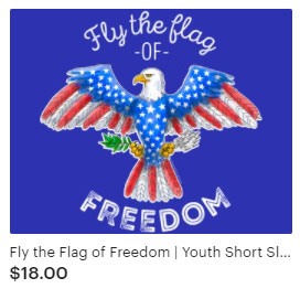 Fly the Flag of Freedom Live Free or Die Patriotic t-shirt