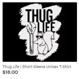 Thug Life funny t-shirt